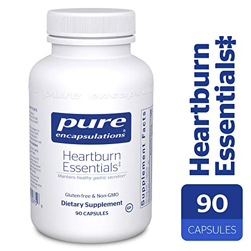 Pure Encapsulations - Heartburn Essentials - Dietary Supplement Helps Decrease Occurrences of Occasional Heartburn and Indigestion* - 90 Capsules