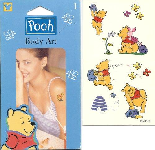 Disney Winnie the Pooh Honey Bee's Body Art Temporary Tattoo