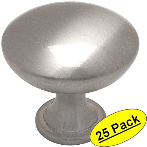 - Cosmas 5305SN Satin Nickel Traditional Round Solid Cabinet Hardware Knob - 1-1/4
