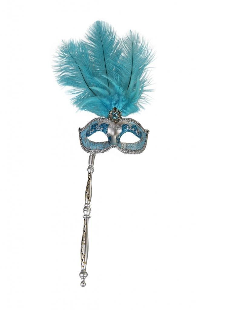 KAYSO INC Colombina Vanity Fair Venetian Masquerade Stick Mask