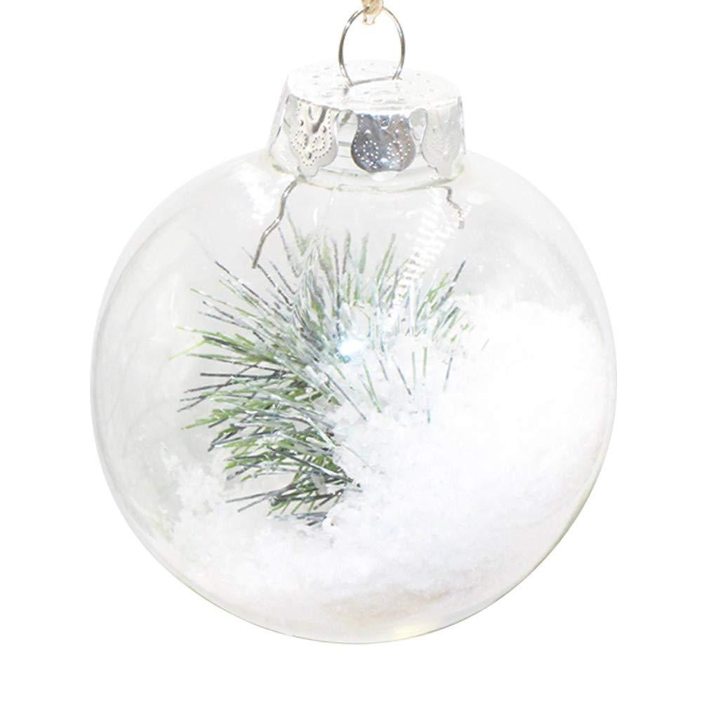 Stheanoo Christmas Tree Ornament Pendant Home Xmas Party Household Hanging Decoration Ball (10CM)