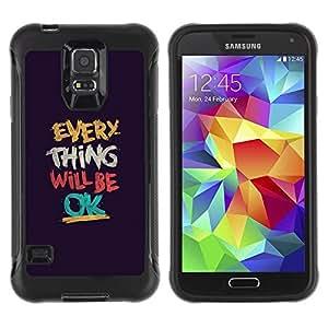 """Pulsar iFace Series Tpu silicona Carcasa Funda Case para Samsung Galaxy S5 V , Cosa Será Texto Ok motivación"""""""