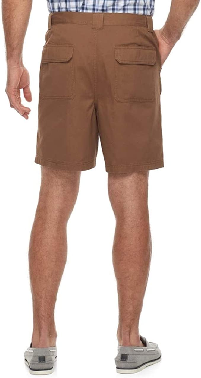 NEW Men/'s Croft/&Barrow Side Elastic Cargo Shorts 100/% Cotton Pick Color 40 or 44