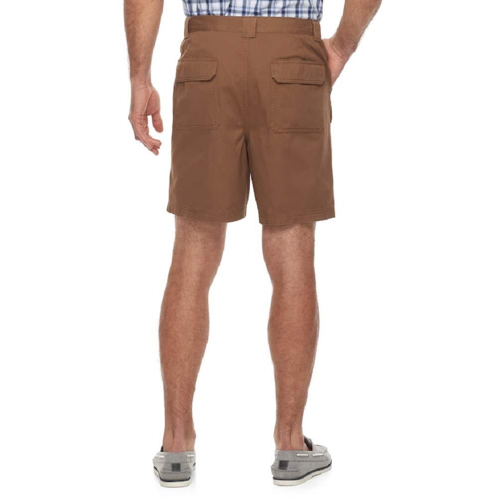 764700ea Amazon.com: Croft & Barrow Men's Side Elastic Cargo Shorts: Clothing