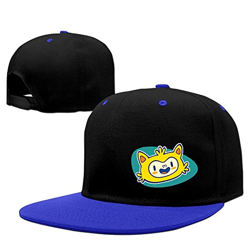 Custom Unisex-Adult The 2016 Rio De Janeiro Flat Brim Baseball Caps RoyalBlue (Crazy Sunglasses 8)