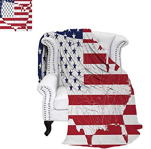 Digital Printing Blanket America Continent Shaped Flag Martial Design International World Glory Print Summer Quilt Comforter 60