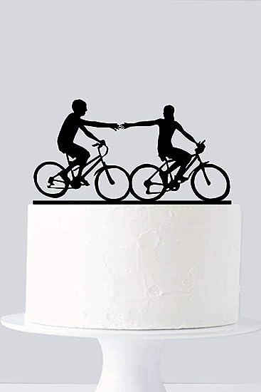 Rummy 810223 - Decoración para tarta de bicicleta, diseño de silueta de pareja: Amazon.es: Hogar