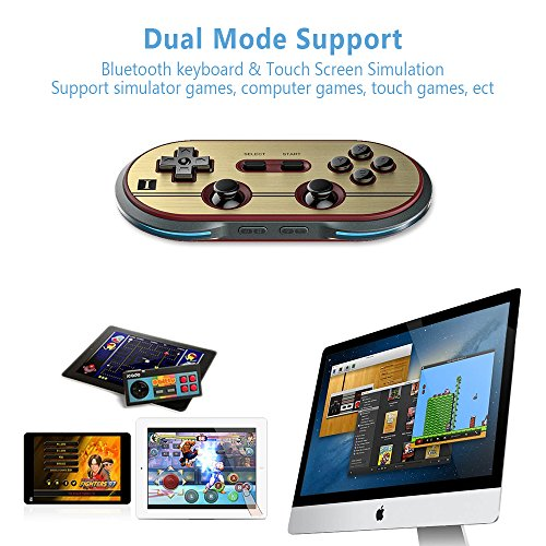 8Bitdo F30 Pro Wireless Bluetooth Controller Game Gamepad Retro Styled for Android / MacOS / Windows by RunSnail (Image #2)