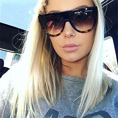 NEW Oversized Cat Eye Sunglasses Women Vintage Flat Top Sun Glasses Shadow Shades OM369
