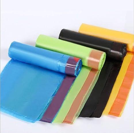 Cinco rollos bolsa de basura de color sin olor espesar bolsa ...