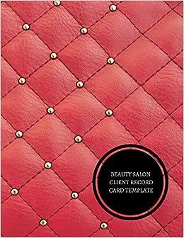 beauty salon client record card template hair stylist client log