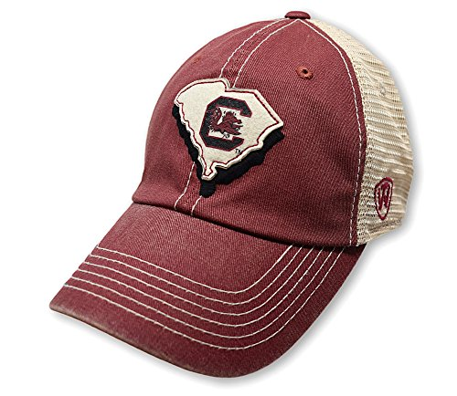 Top of the World South Carolina Fighting Gamecocks Men's Mesh-Back Hat Icon, Garnet, - Hats Carolina University South
