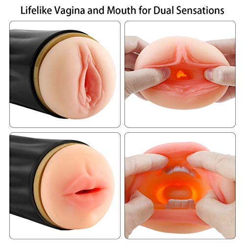Male-Masturbator-Cup-with-Realistic-Vagina-Mouth-Openings-for-Dual-Sensations-PALOQUETH-2-in-1-Pocket-Stroker-Sleeve-Adult-Masturbation-Sex-Toy-for-Men-78-Inch