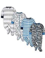 Onesies Brand Boys' 4-Pack Sleep 'N Plays Footies