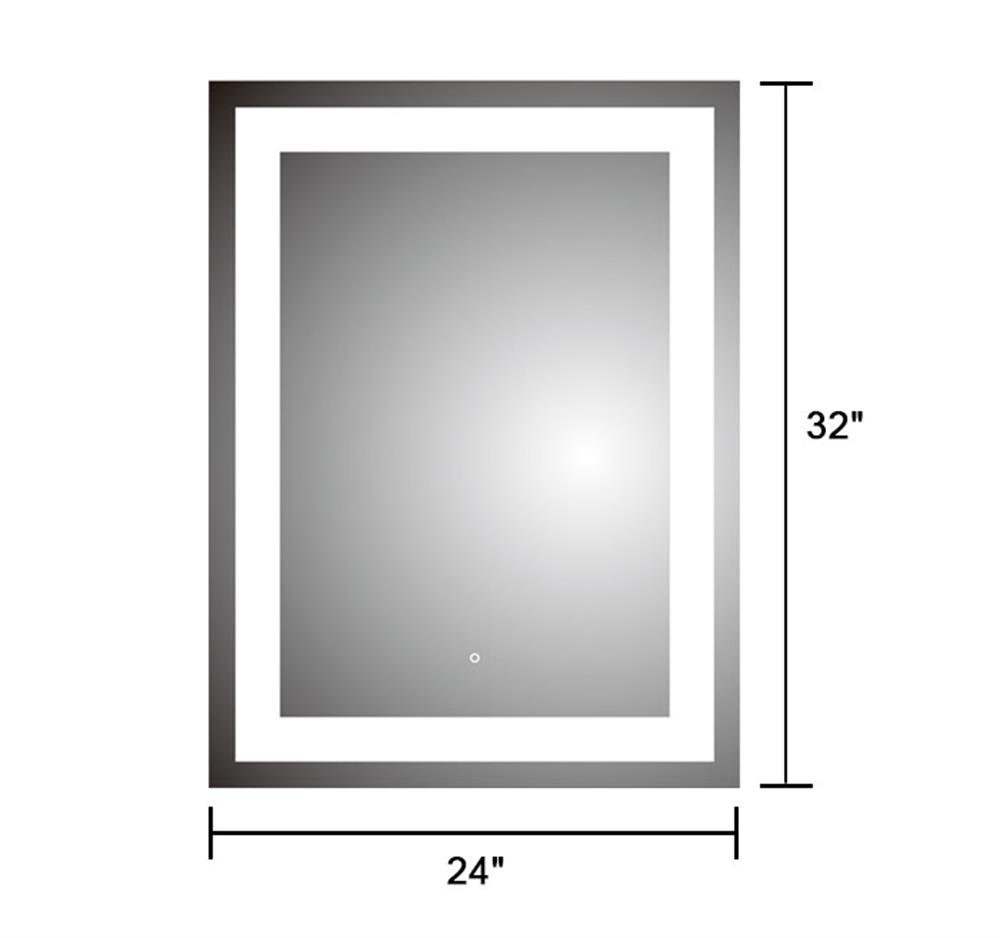 DP Home 24'' LED Lighted Illuminated Bathroom Vanity Wall Mirror with Touch Sensor, Vertical Rectangle White Mirrors 24 x 32 in E-CK010 by DP Home (Image #2)