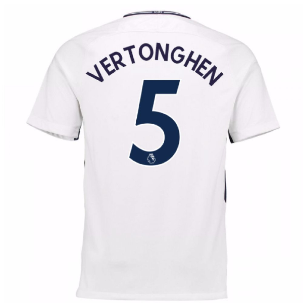 2017-18 Tottenham Home Football Soccer T-Shirt Trikot (Jan Vertonghen 5)