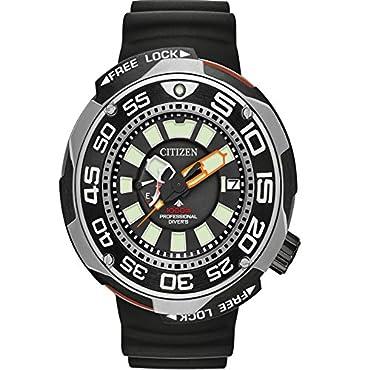 Citizen Eco-Drive BN7020-17E Mens Rubber Titanium Band Black Quartz Dial Watch