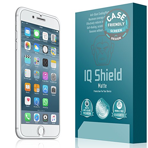iPhone 8 Screen Protector, IQ Shield Matte Full Coverage Anti-Glare Screen Protector for iPhone 8 (Case Friendly, 2-Pack) Bubble-Free Film
