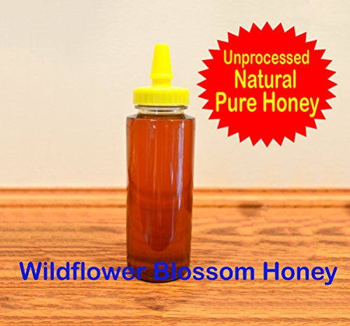 (100% Pure Raw Ohio Wildflower Blossom Honey in 12 Oz. Squeezable Bottle)