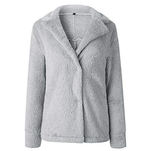 Seul Chemises Cou Mode Manteau Manches Pull Chaud Bouton Chandail Casual Blouse Sweat À Pull Formelle Rouge Osyard Longues over shirt Poches Gris Hiver XavwqxU