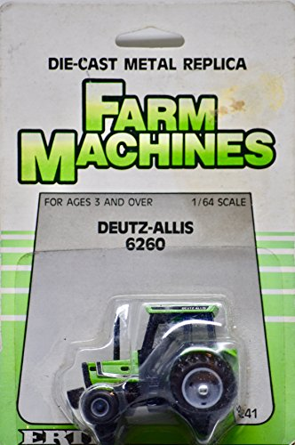 1986 - The Ertl Company - Item # 1241 - Farm Machines - Vintage Deutz-Allis 6260 Tractor - 1:64 Scale Die Cast - Rare - Collectible