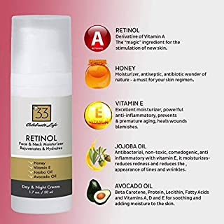 Retinol Face Cream - Lightweight Face and Neck Moisturizer Serum-like Formula Hydrating Thick Cream for Timeless Therapy for all Skin Type - Promoting Skin Renewal-Enhancing Collagen Production, Lessening Fine Lines, Wrinkles and Sun Damage with Natural Nutrients for Anti-Aging, Sensitive, Oily and acne-prone skin Binding together Unique Plant Peptides promoting enhancements in Cellular Vitality and vast improvements in the skin's natural radiance keeping from sagging, age spots and dark areas