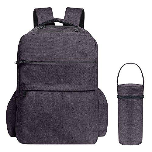 Bolsa de Pañales mochila, Gran Capacidad De Moda bebé bolsa de pañales para mamá/Papá, cambiador, correas para el carrito y bolsa de aislamiento botella incluye, funcional y resistente rojo Classic Re Classic Black