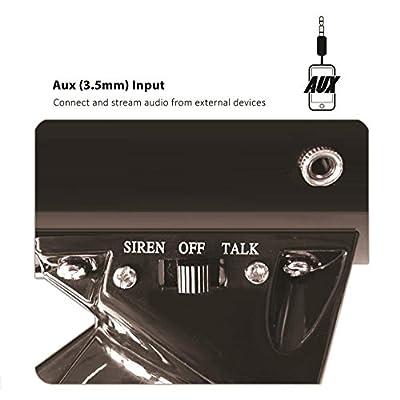 Pyle Megaphone Speaker   Bullhorn PA Speaker System   Wired Microphone   Siren Alarm Mode   Aux (3.5mm) Input, Volume Control (PMP53iN)