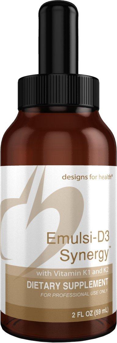 Designs for Health - Emulsi-D3 Synergy - 2000 IU Liquid Vitamin D + K1 + K2, 2oz
