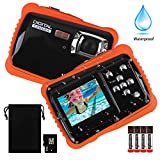 Kids Waterproof Camera, DECOMEN Digital Underwater Camera for Boys and Girls, 12MP HD Action Sport Camcorder with 2.0' LCD, 8X Digital Zoom, Flash, Mic and 8G SD Card.