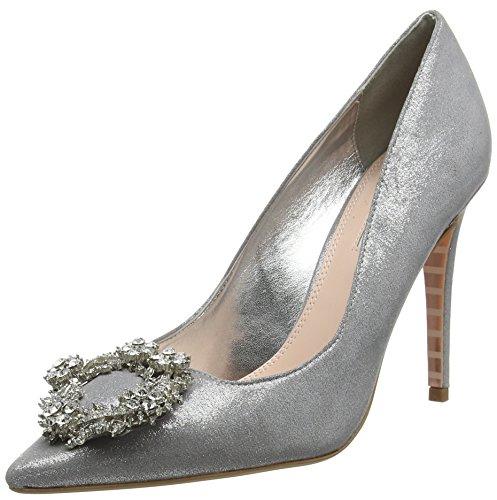 Dune Breanne, Scarpe col Tacco Punta Chiusa Donna Argento (Silver-fabric Silver-fabric)