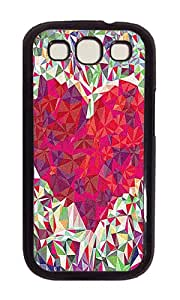 Samsung S3 Case,VUTTOO Cover With Photo: Stained Heart For Samsung Galaxy S3 I9300 - PC Black Hard Case