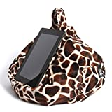 iPad Pillow & Tablet Stand - Securely Holds Any Size Tablet, eReader or Book Upto 12.9 inches, Hands Free Comfort at Any Angle on Any Surface - Baby Giraffe, by iBeani