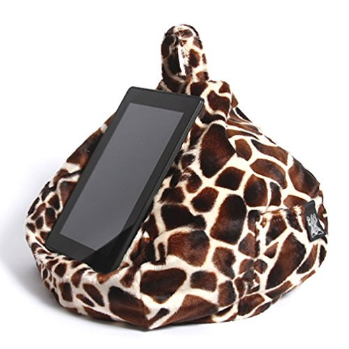 iPad, Tablet & eReader Cushion Bean Bag Pillow Stand - Baby Giraffe - Suitable for All Tablets! 100% Comfort & Stability at Any Angle. Helps Avoid iPad RSI. Perfect for Sofa, Bed, Desk, Knee or car