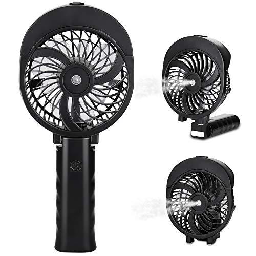 Peyou Misting Handheld Fan, [180° Foldable ] Portable