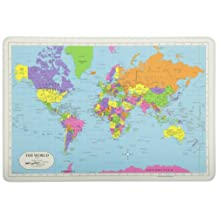 PAINLESS LEARNING PLACEMATS-World Map-Placemat