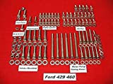 ALLOYBOLTZ - FORD BIG BLOCK BBF 429 460 STAINLESS STEEL ENGINE HEX BOLT KIT