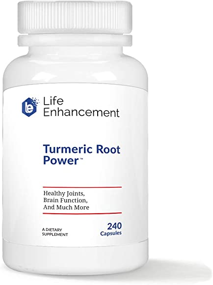 Life Enhancement Turmeric Root Capsules for Healthy Joints, Brain Function, and Much More 1200 mg Turmeric Curcuma Longa Root 120 Servings