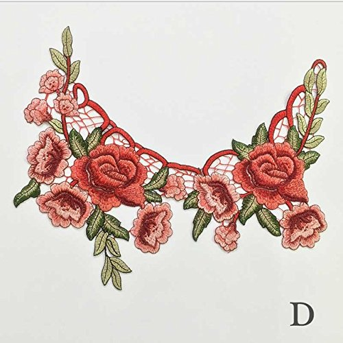 dery Rose Flower Sew Patch Dress Hat Bag Jean Applique Craft Clothing Accessory - Maculation Prime Eyepatch Blossom Fleck Plot Ground Temporary Hookup Bloom - 1PCs ()