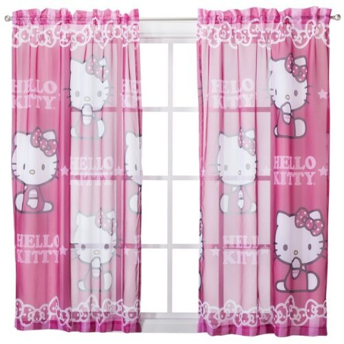Sanrio Hello Kitty Sheer Window Panel Drape - 42x63