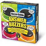 Learning Resources Recordable Answer Buzzers, Personalized Buzzers, Set of 4, Ages 3+