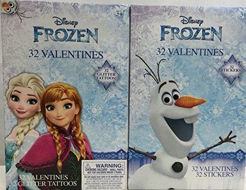 disney-frozen-valentines-glitter-tattoos-and-stickers-bundle-anna-elsa-olaf-2-pack