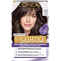 L'Oréal Paris Excellence Cool Creme Color Triple Cuidado, Tono 4.11 Castaño Ceniza Intenso - 260 g