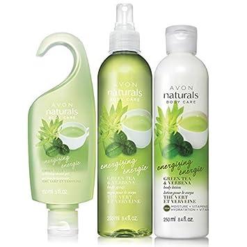 Avon Naturals Energizing Green Tea Verbena Bath Body Set