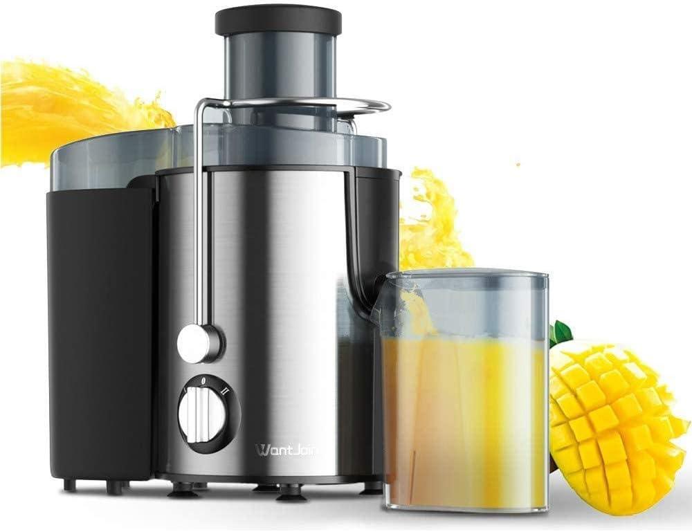ASDASD 400w Exprimidor de Acero Inoxidable Máquina de Beber Frutas y Verduras eléctrica para el hogar CE Mezclador Extractor de exprimidor multifunción Polonia Gris Claro