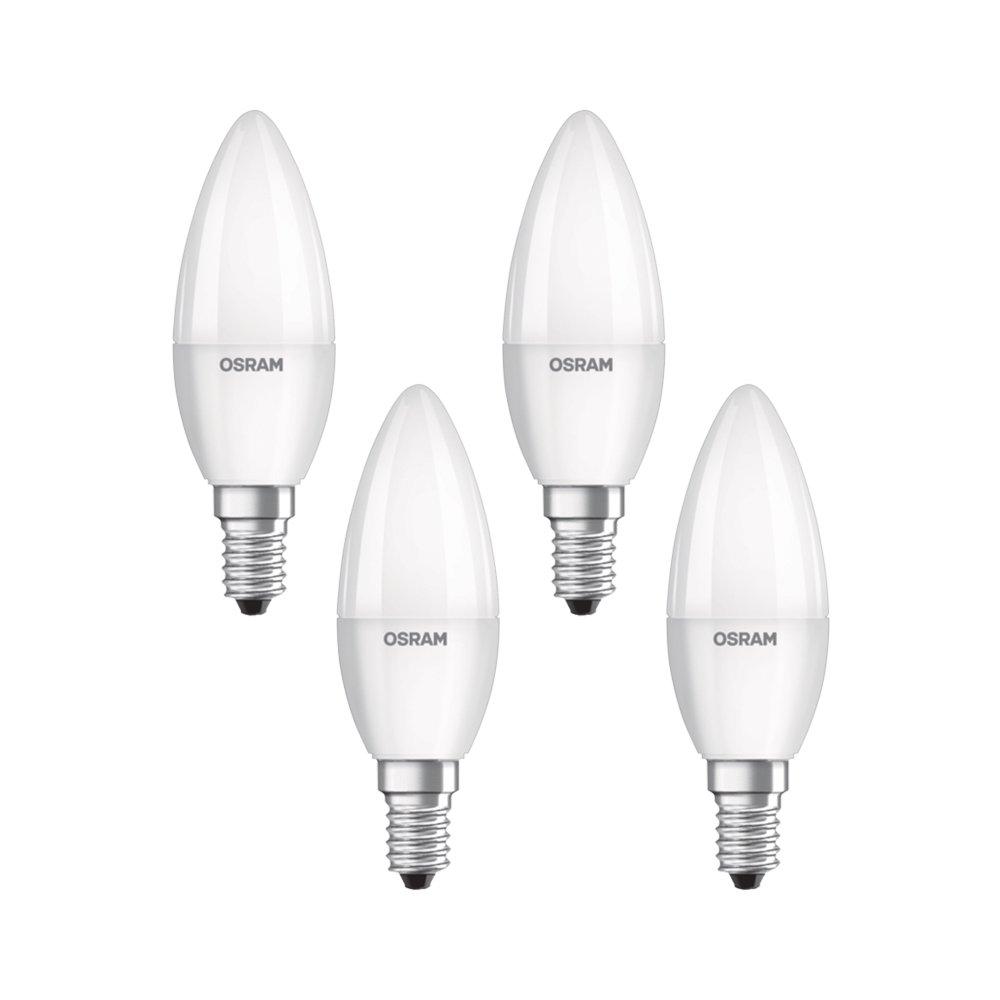 Osram 819610 - Pack de 4 Bombillas LED E14, 5 W, 4 Unidades, Blanco: Amazon.es: Iluminación