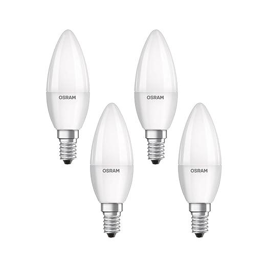 Osram 819474 Bombilla LED E14, 5.7 W, Blanco, 4 Unidades