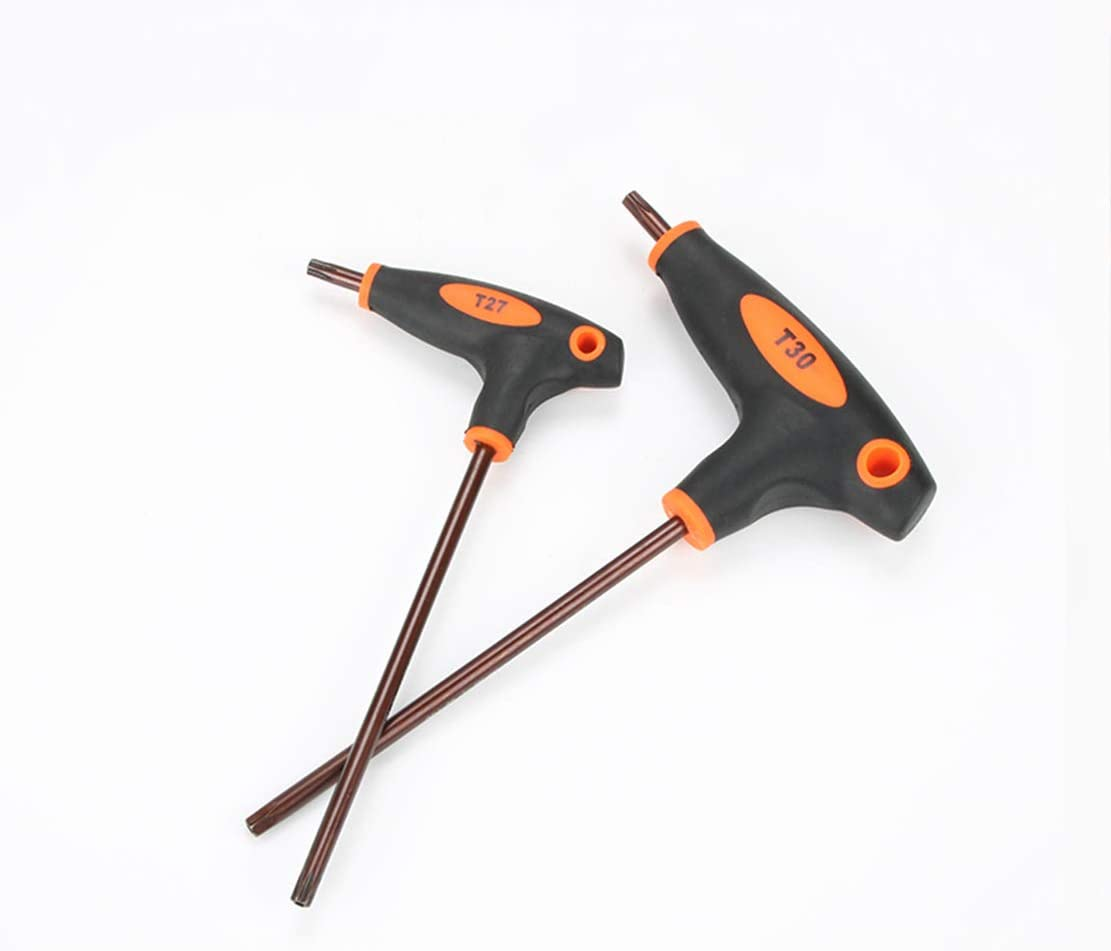 HIOD Llaves Torx con Mango en T Llave Torx T10-T15-T20-T25-T27-T30-T40-T45-T50 para Torx Dcrews
