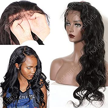Amazon.com : S-noilite 10 inch Silk Top Full Lace Human Hair Wigs Curly Straight Wave Brazilian Virgin Hair For Black Women Ladies (10