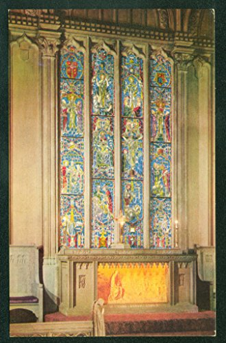 Temple First Methodist Chicago Illinois Stained Glass Four Gospels Interior Church Postcard